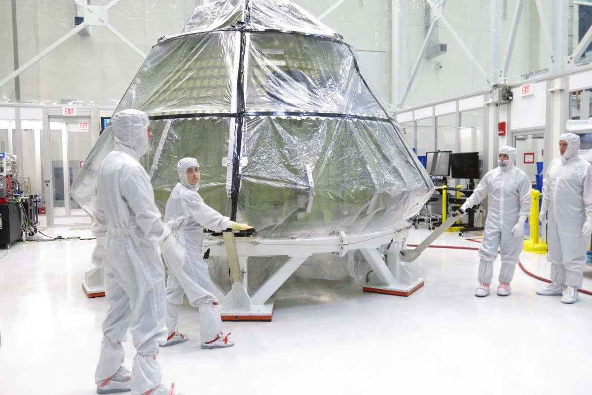 orion in clean room